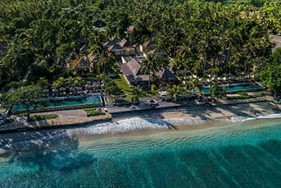 Professional aerial drone photography of Qunci Villas Lombok by LuxViz in Bali Indonesia