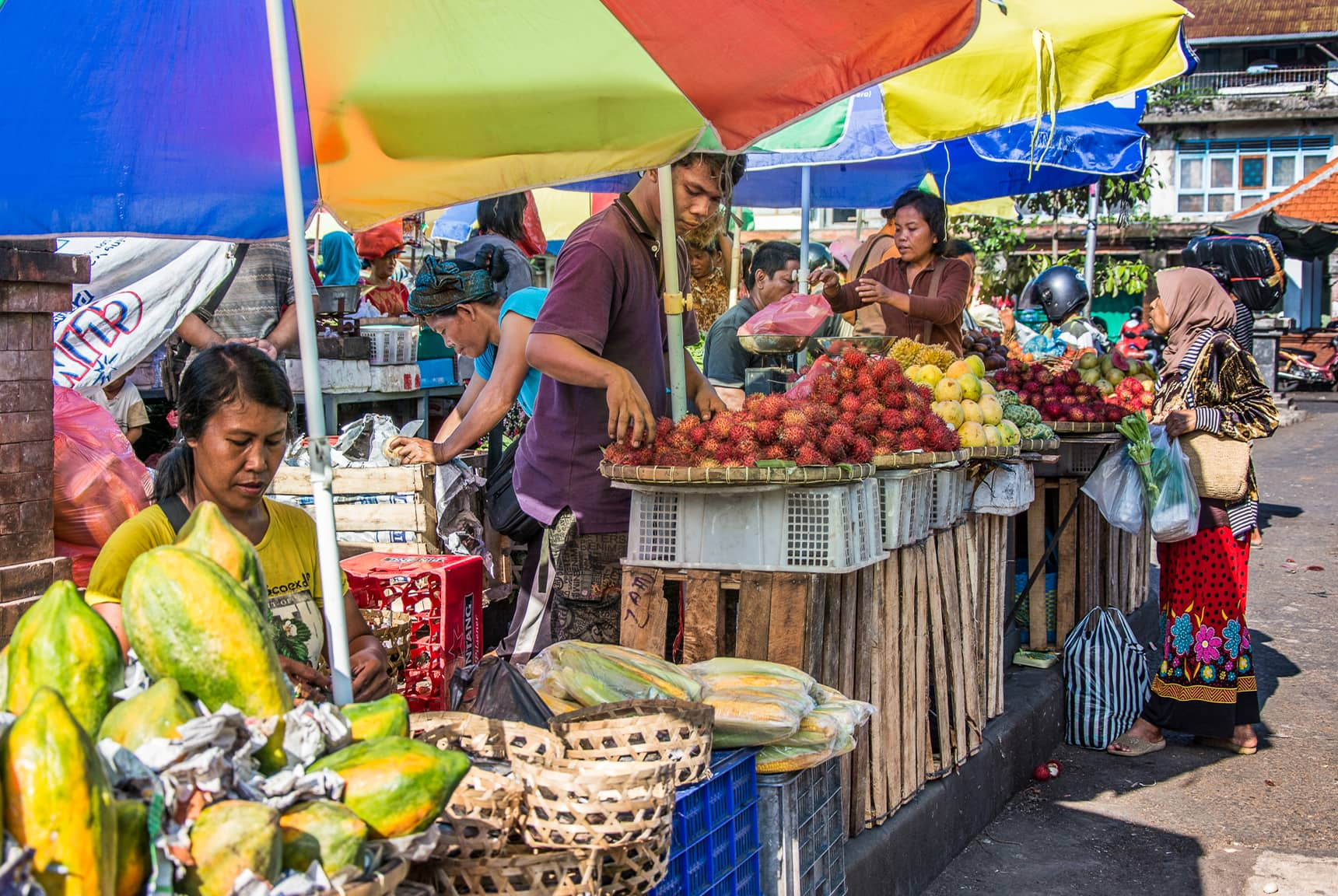 Professional photos of traditional markets in Bali Indonesia