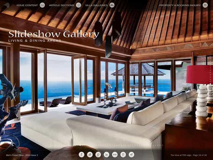 Custom mobile app for luxury hotels and villas - Bali's Finest Villas