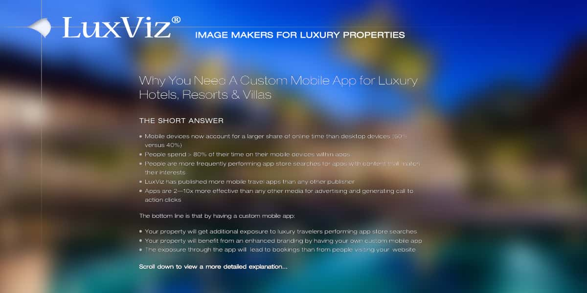 Why You Need Custom Mobile Apps for Luxury Hotels, Resorts