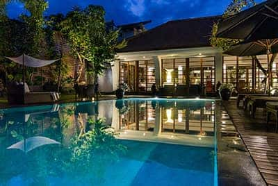 Professional luxury villa photography by LuxViz in Bali Indonesia Villa Karishma